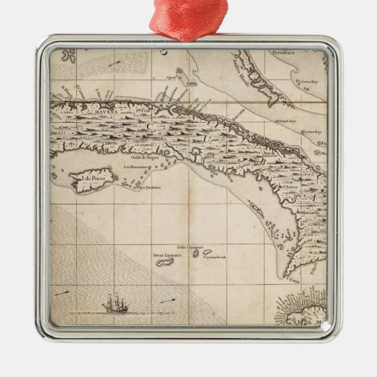 A Map of the British Empire in America Sheet 14 Metal Ornament