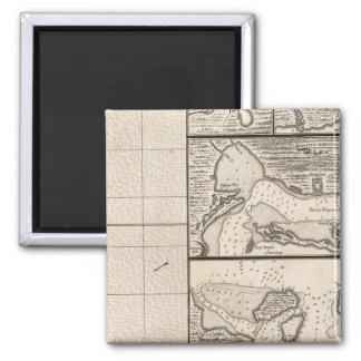 A Map of the British Empire in America Sheet 16 2 Inch Square Magnet