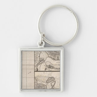 A Map of the British Empire in America Sheet 16 Keychain