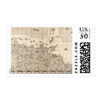 A Map of the British Empire in America Sheet 19 Postage