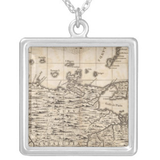 A Map of the British Empire in America Sheet 19 Square Pendant Necklace