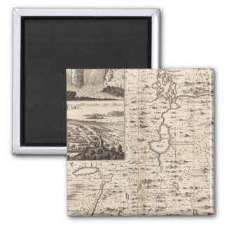 A Map of the British Empire in America Sheet 1 2 Inch Square Magnet