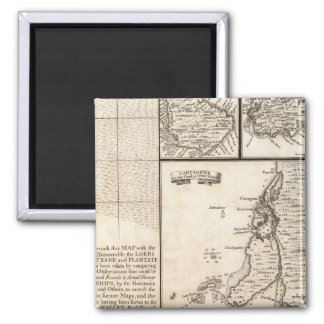A Map of the British Empire in America Sheet 20 2 Inch Square Magnet