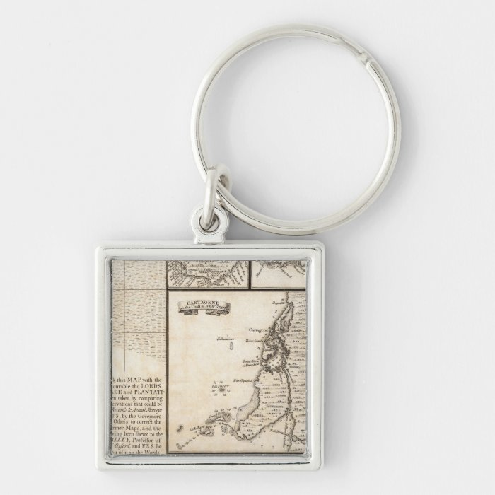 A Map of the British Empire in America Sheet 20 Keychain