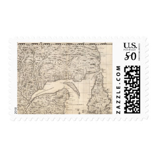 A Map of the British Empire in America Sheet 3 Postage