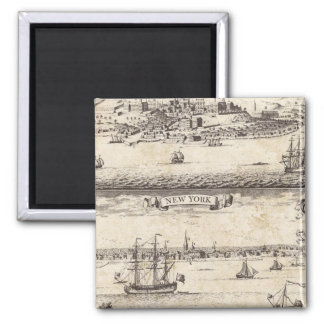 A Map of the British Empire in America Sheet 4 2 Inch Square Magnet