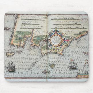 A Map of the coastline of Brittany, 1588 Mouse Pad