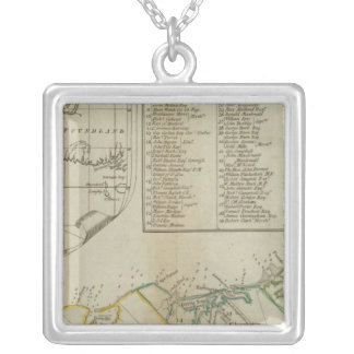 A Map of the Island of St John Square Pendant Necklace