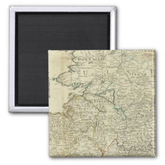 A map of the Kingdom of Ireland Northern section 2 Inch Square Magnet