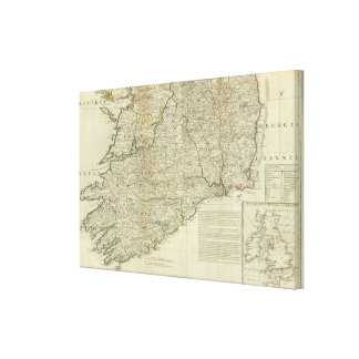 A map of the Kingdom of Ireland Southern section Canvas Print