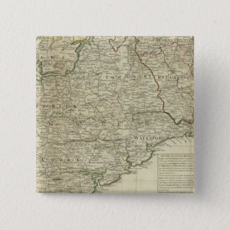 A map of the Kingdom of Ireland Southern section Pinback Button