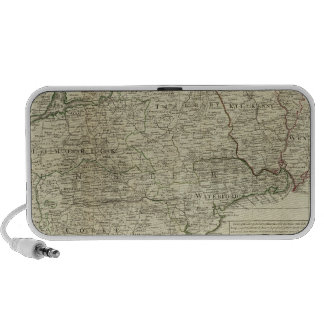 A map of the Kingdom of Ireland Southern section iPod Speakers
