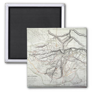 A Map of the Kingdom of Kabul 2 Inch Square Magnet