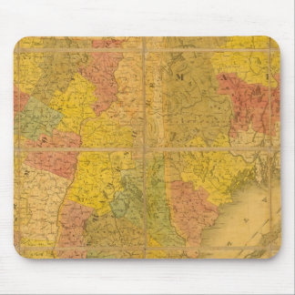 A Map of the New England States Mouse Pad
