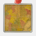 A Map of the New England States Christmas Tree Ornament