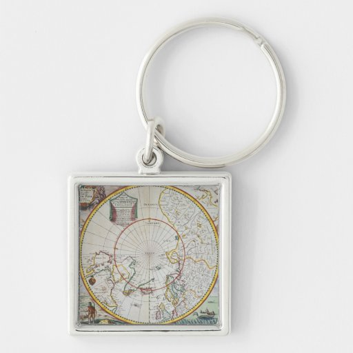 A Map of the North Pole Key Chain