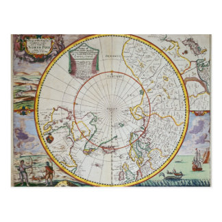 A Map of the North Pole Postcard