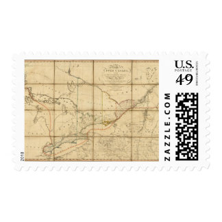 A Map of the Province of Upper Canada Postage Stamp