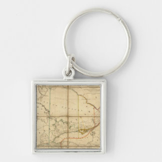A Map of the Province of Upper Canada Silver-Colored Square Keychain