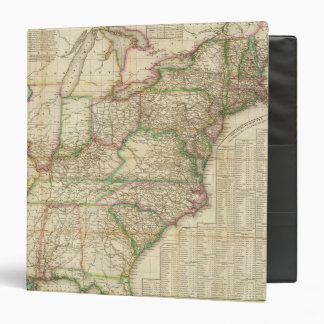 A Map Of The Roads, Canals And Steam Boat 3 Ring Binder