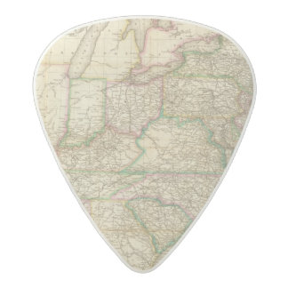 A Map Of The Roads, Canals And Steam Boat Acetal Guitar Pick
