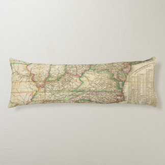 A Map Of The Roads, Canals And Steam Boat Body Pillow