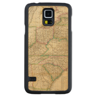 A Map Of The Roads, Canals And Steam Boat Carved® Maple Galaxy S5 Slim Case