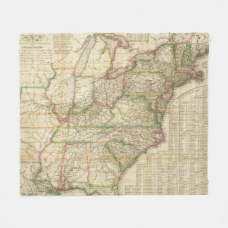 A Map Of The Roads, Canals And Steam Boat Fleece Blanket