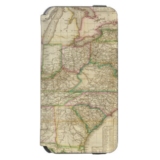 A Map Of The Roads, Canals And Steam Boat iPhone 6/6s Wallet Case