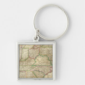 A Map Of The Roads, Canals And Steam Boat Keychain