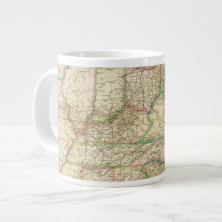 A Map Of The Roads, Canals And Steam Boat Large Coffee Mug