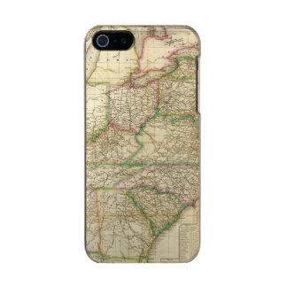 A Map Of The Roads, Canals And Steam Boat Metallic Phone Case For iPhone SE/5/5s