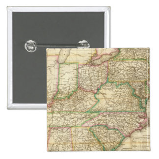 A Map Of The Roads, Canals And Steam Boat Pinback Button