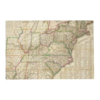 A Map Of The Roads, Canals And Steam Boat Placemat