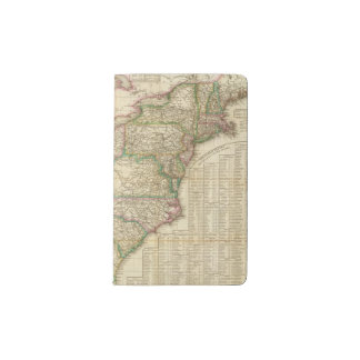 A Map Of The Roads, Canals And Steam Boat Pocket Moleskine Notebook