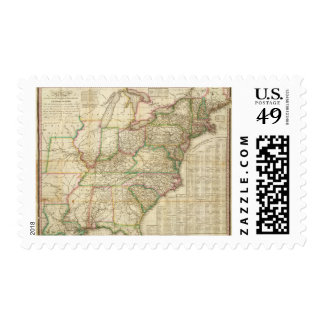 A Map Of The Roads, Canals And Steam Boat Postage Stamp