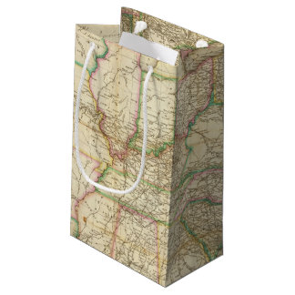 A Map Of The Roads, Canals And Steam Boat Small Gift Bag