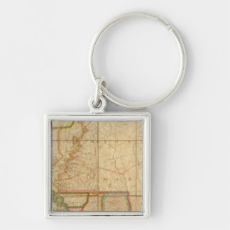 A Map of the State of Louisiana Keychain