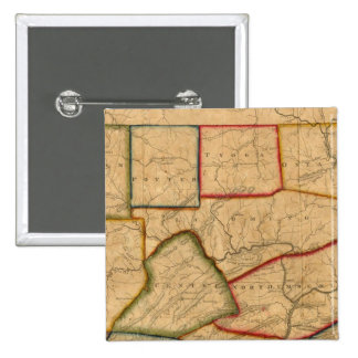 A Map Of The State Of Pennsylvania 2 Inch Square Button