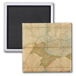 A Map of The State of Pennsylvania 2 Inch Square Magnet