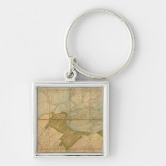 A Map of The State of Pennsylvania Keychain