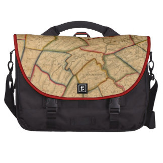 A Map Of The State Of Pennsylvania Laptop Bags