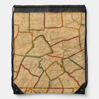 A Map Of The State Of Pennsylvania Drawstring Bag