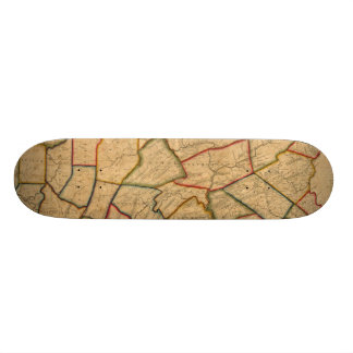 A Map Of The State Of Pennsylvania Skateboards