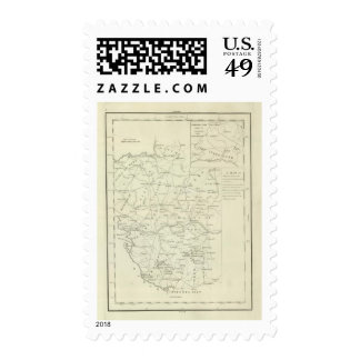 A Map of the Vendee Postage Stamp