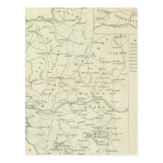 A Map of the Vendee Postcard