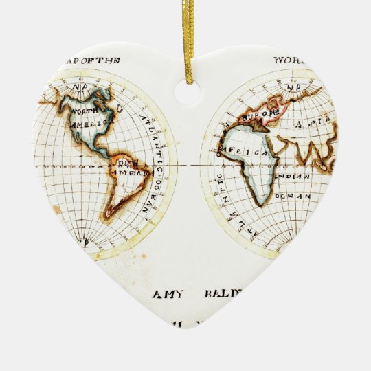 A Map of the World  Amy Baldwin sc.jpg Ceramic Ornament