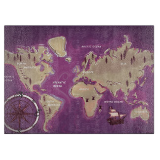 A Map Of the world. Cutting Board