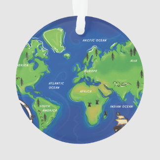 A Map Of the world. Ornament
