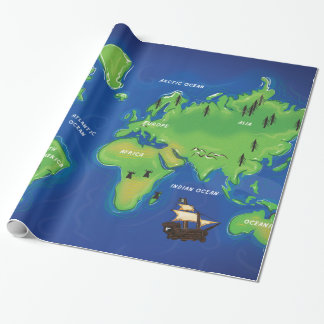 A Map Of the world Wrapping Paper